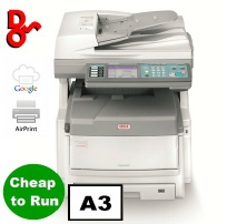 For sale refurbished colour A3 photocopier, OKI ES8460dn extremely reliable, service garuntee, and cheap to run